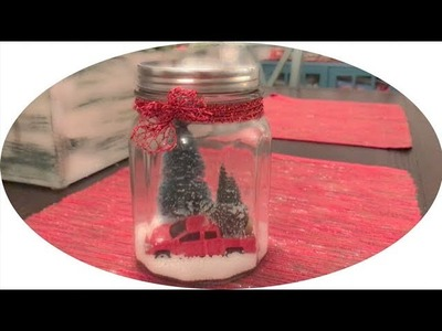 Christmas Snow Jar DIY ft. Little Red Truck