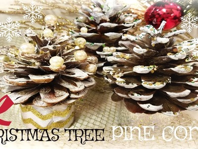 CHRISTMAS TREE PINE CONES DIY IDEAS! Christmas decour