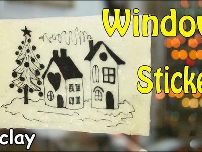 Christmas Window Sticker - Polymer clay tutorial