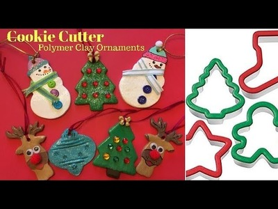 Cookie Cutter Polymer Clay Christmas Ornaments