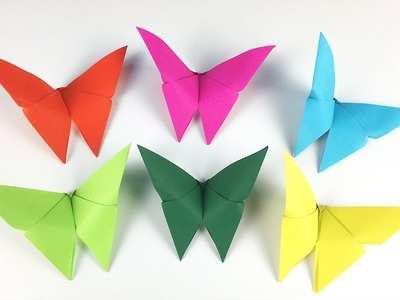CRAFTS FOR KIDS WITH PAPER: ORIGAMI BUTTERFLY ????