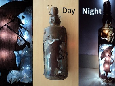 DIY-Art Attack|Bottle lamp with Crayons.
