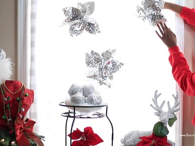 DIY Christmas Curtains from A Big Lots Tablecloth   12 DIYs of Christmas: Day 2   Merry Craftmas