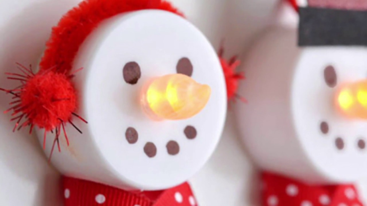 Diy Christmas Decorations Part 1 Cute Snowman
