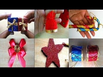DIY Christmas Ornaments ||  5 Easy Christmas Decoration Ornaments Making at home ||