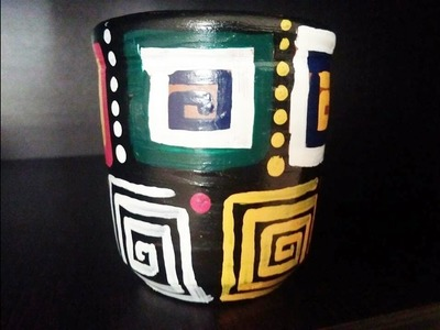DIY | clay pot painting ideas | simple and easy home decor ideas