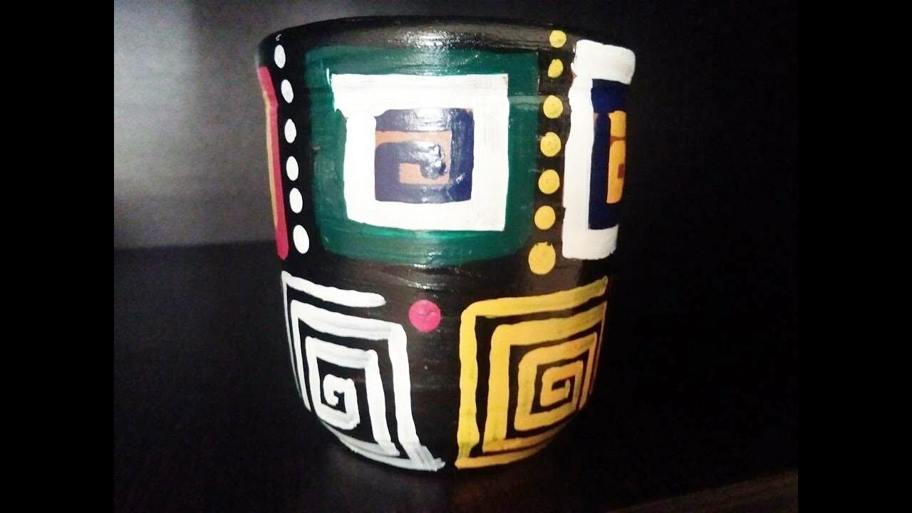 DIY   clay pot painting ideas   simple and easy home decor ideas
