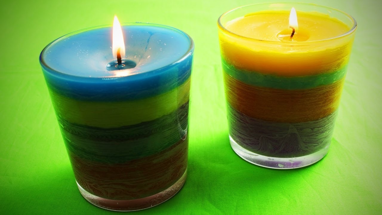 Diy Crayon Candle Easy Home Decor Life Hacks