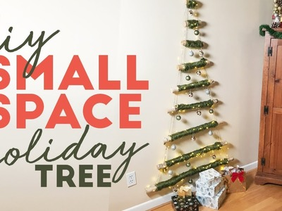DIY Hanging Christmas Tree | Small Space Solution