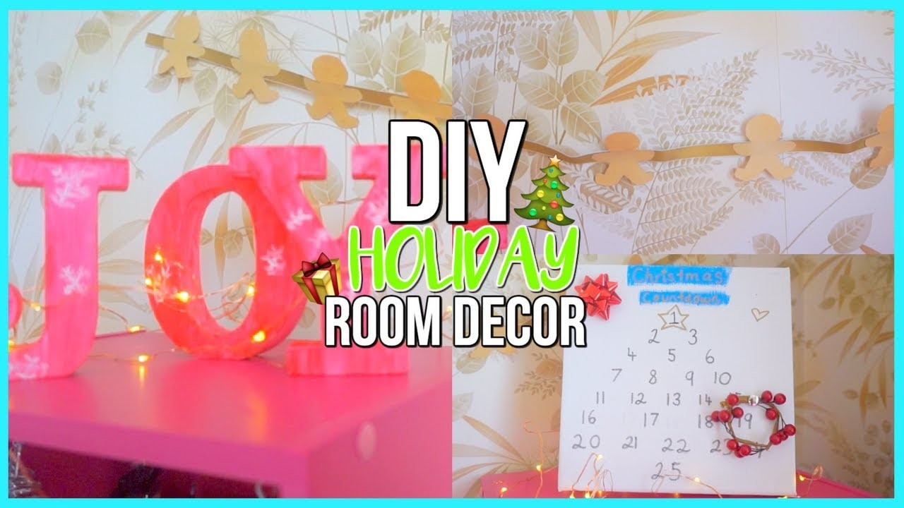 Diy holiday room decor easy cheap decorating ideas for for Room decor diy easy