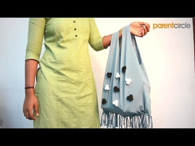 DIY - How to Make a Fringe bag from an old T-shirt