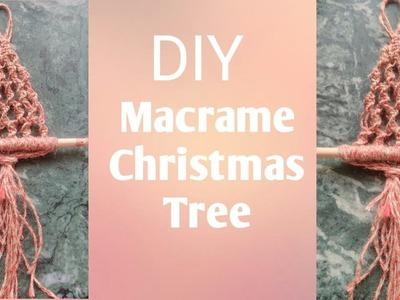 DIY-How to make Macrame christmas tree-macrame का क्रिसमस ट्री कैसे बनाते है
