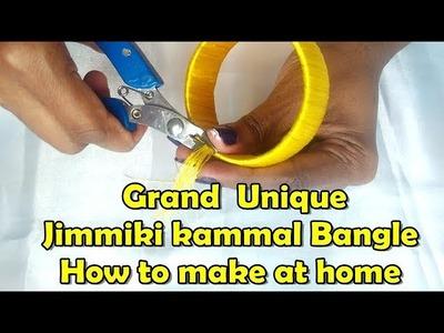 DIY||jimmiki kammal||How to make designer silk thread  Bangle at home||Grand Ideas