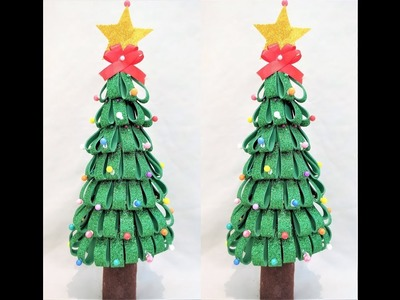 Diy: Making of Christmas tree at home. Table top Christmas tree
