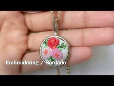 DIY MINI EMBROIDERY NECKLACE. COLLAR BORDADO EN MINIATURA