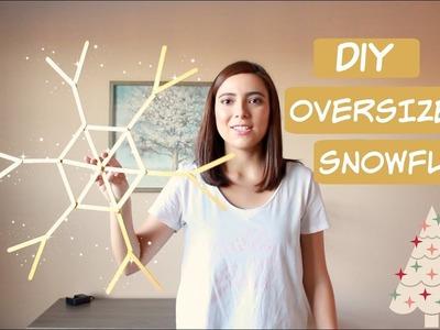 DIY Oversized Snowflake Decoration
