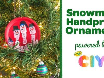 DIY Snowman Handprint Ornament || Crayola CIY: Create It Yourself || WEEK OF ORNAMENTS