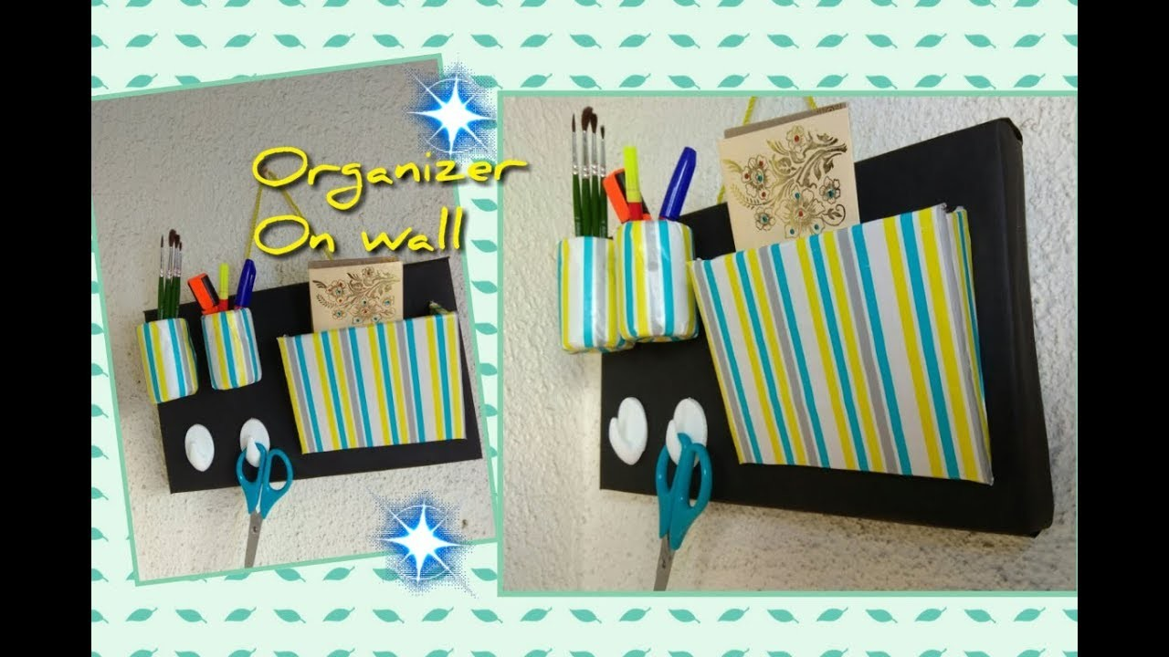 DIY Wall Storage Organizer. Best way to save space and beautify walls. Easiest Wall Organizer