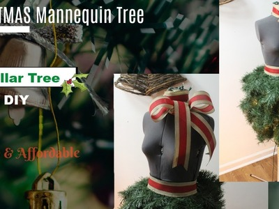 DOLLAR TREE DIY: How to Make A Christmas Mannequin Tree