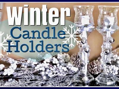Dollar Tree DIY Winter Candle Holders