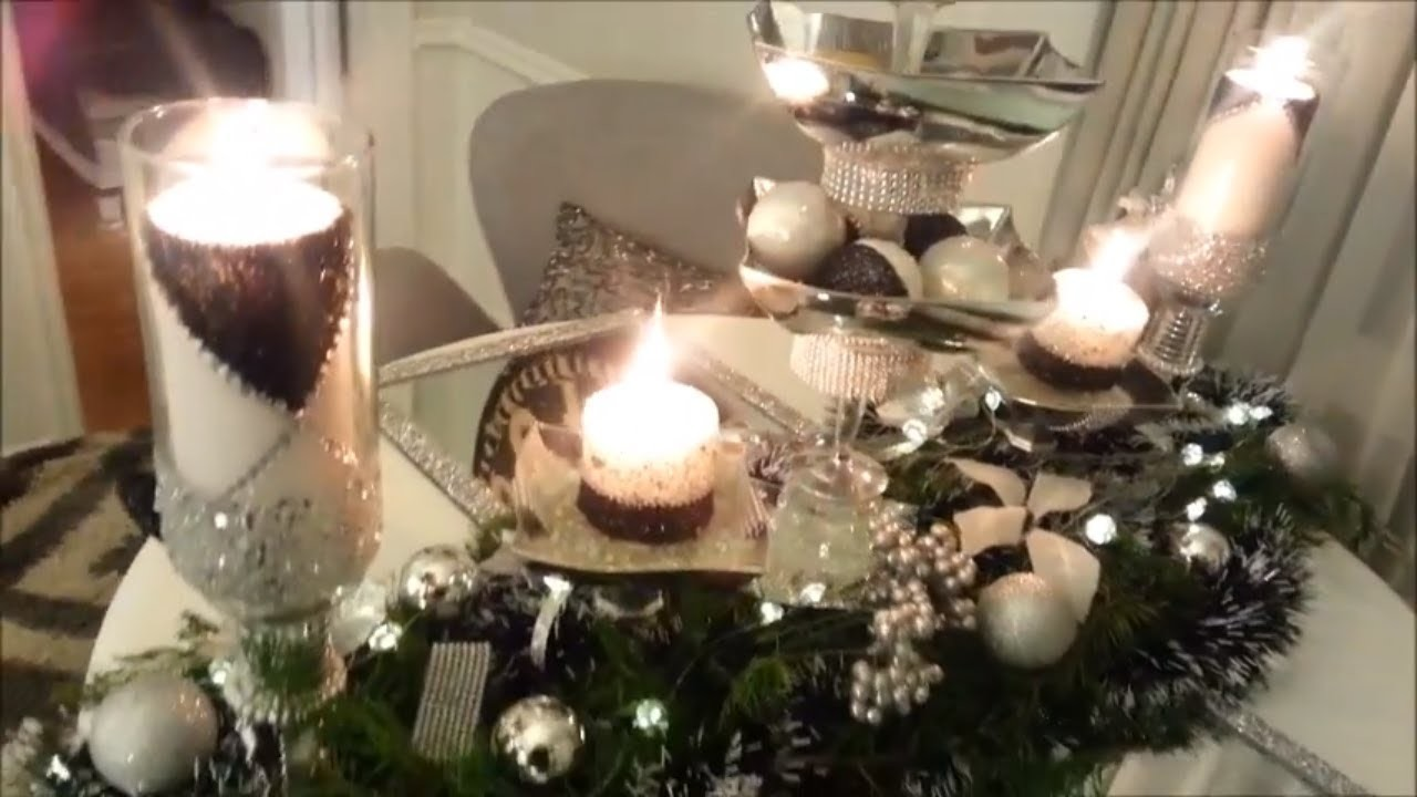 Dollar Tree Glam DIY Table Decor for Christmas