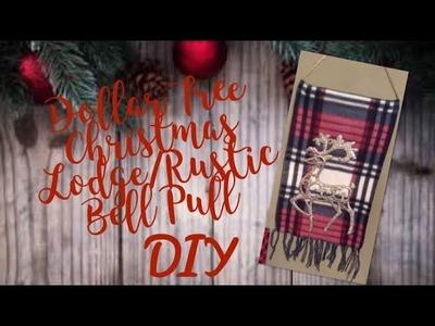 Dollar Tree Lodge.Rustic Bell Pull DIY