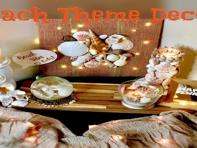 (HINDI) 4 DIY | Beach Theme Diwali Decor Part-1 | Home Decor Ideas