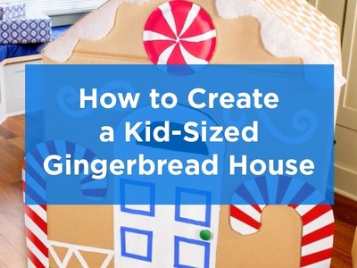 Holiday DIY: How to Create a Kid-Sized Gingerbread Playhouse