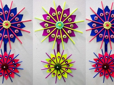 Home decor ideas diy - How to make wall hangings with waste material - Paper wall hanging crafts