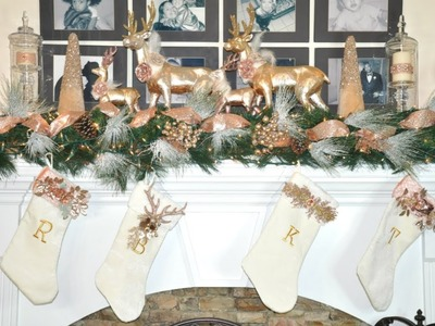 How to Decorate A Mantle For Christmas plus DIY Flocking