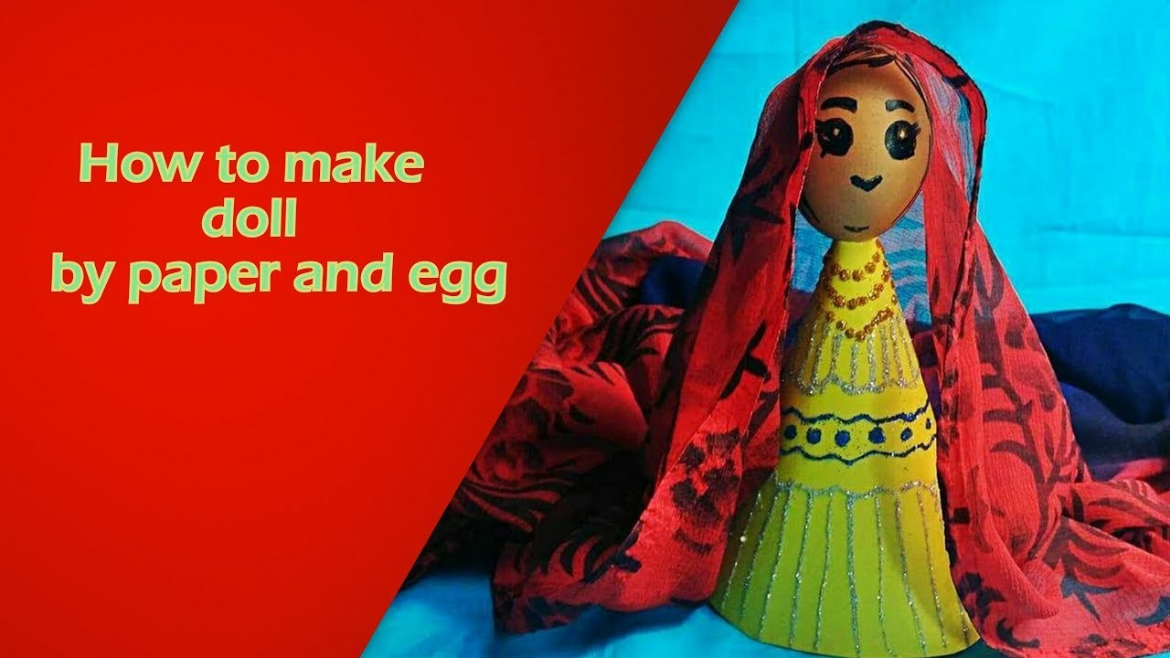 How to make a doll by paper and egg | step by step | easy origami for kids