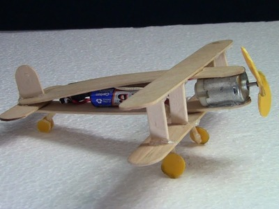 How to make Airplane with DC motor DIY