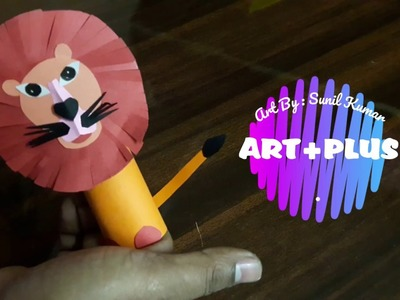 HOW TO MAKE LION PAPER CRAFT PUPPET
