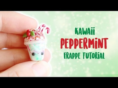 Kawaii Christmas Peppermint Frappe│Polymer Clay Tutorial
