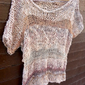 Knitted blouse, Loose knit sweater, knitted sweater, knitted pullover, knitted jumper, knitted jersey, knit shirt, knitwear,