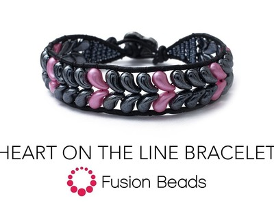 Learn how to create the Heart on the Line bracelet by Fusion Beads