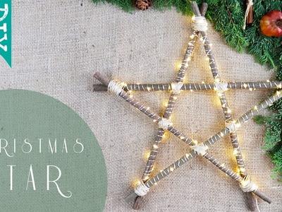 ???? LED STAR light DIY   How to make Christmas lights ???? using natural materials DIY