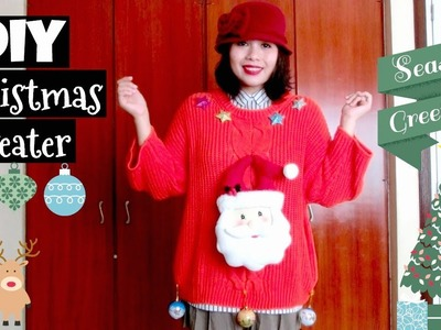 Make Your Own Christmas Sweater! | XMAS DIY