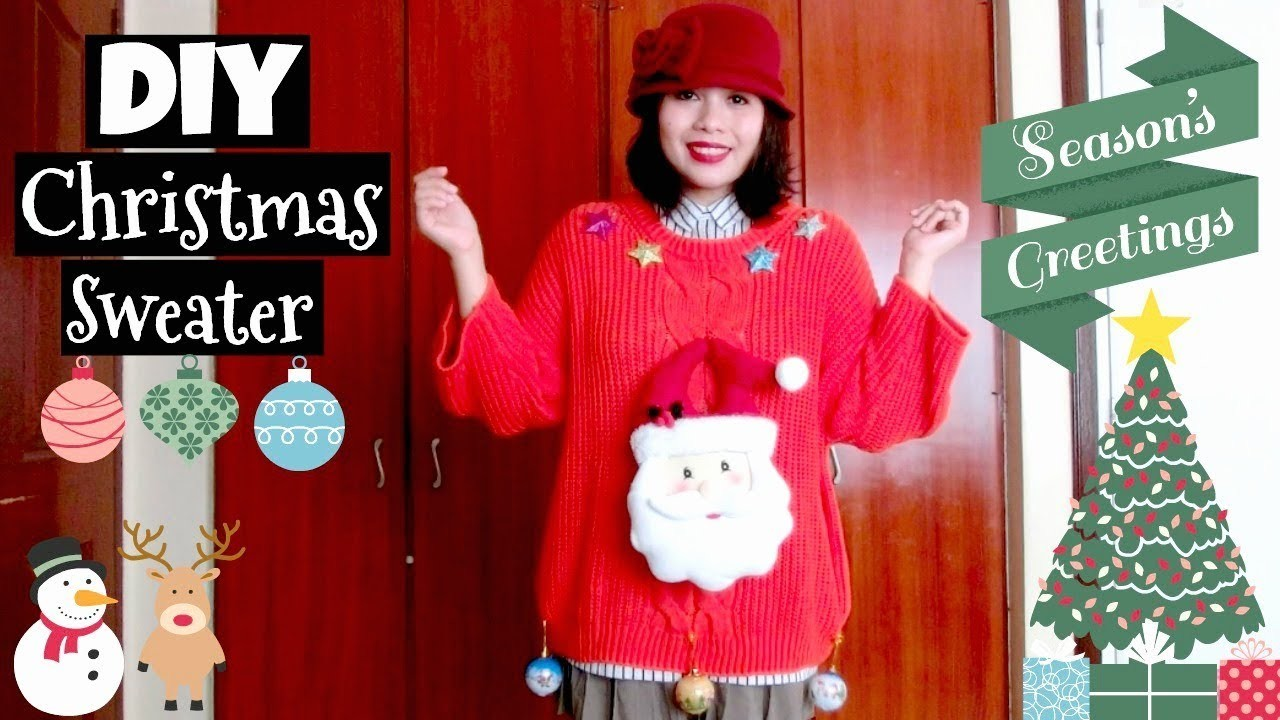 Make Your Own Christmas Sweater! | XMAS DIY