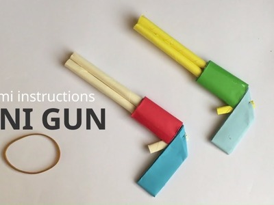 Mini Paper Gun That Shoots Rubber Band Origami Tutorial