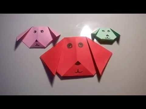 Origami Dog Very Easy Easy Origami Arts Paper Do It Your Self