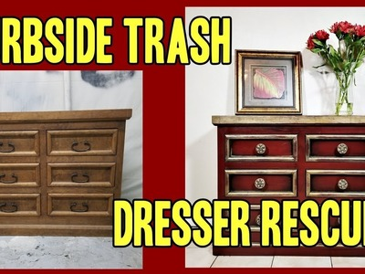 Painting Furniture Left on the Curb - DIY Dresser Rescue