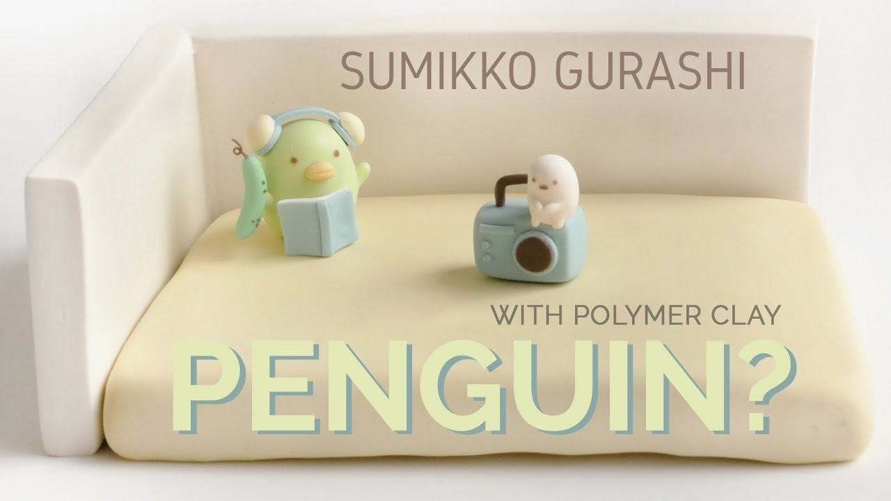 Penguin? scene with Polymer Clay - Sumikko Gurashi