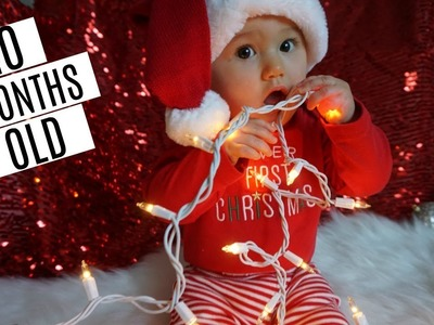 SHE'S 10 MONTHS OLD  DIY CHRISTMAS PICTURES  Tres Chic Mama Vlog