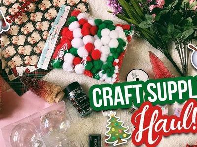 SHOPPING FOR DIY CHRISTMAS SUPPLIES + HAUL! Vlogmas Day 9
