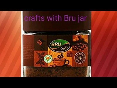 What to do with bru bottles.diy.reuse ideas for home decoration