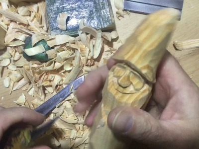 """Whittling an 8"""" Father Christmas (2 of 3)"""