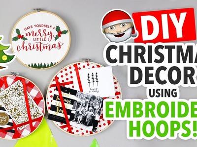 2 Christmas DIYs Using Embroidery Hoops - HGTV Handmade