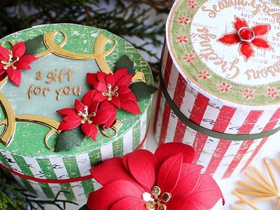 25 DAYS OF CHRISTMAS 2017 - DAY 19 - Vintage Round and Oval Boxes