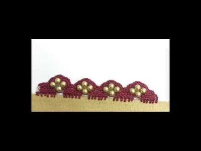 3 petal crochet flower saree tassel.kuchu